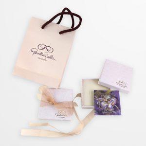 Packaging gioielli d'arte Gabriella Rivalta